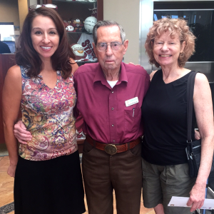 Renaye Medina, Branch Manager with Chuck and his daughter,  Carol.
