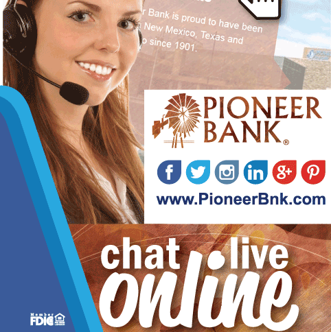 pioneer chat Forgot password | enroll telephone number: (575) 624-5200 or (800) 624-5200  fax number: (575) 624-5209 email: info@pioneerbnkcom follow us on.