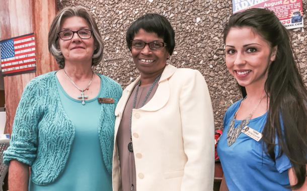 Debbie Fallon, Carolyn Bell and Tiana Alvarez