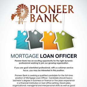 Mortgage Loan Officer Position Open