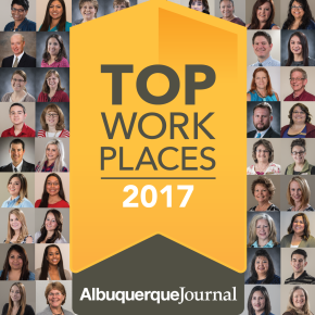THE ALBUQUERQUE JOURNAL NAMES PIONEER BANK A WINNER OF THE NEW MEXICO 2017 TOP WORKPLACES AWARD