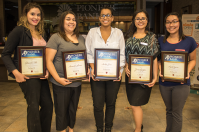 Daniela Tello, Amanda Lucero, Amber Sosa, Jenae Gayton and Aziah Spicer were all awarded promotions.