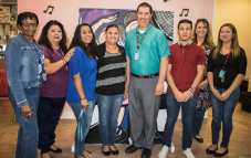 Carolyn Bell, Esther Aviles, Amber Sosa, Yvonne Aldana, Christopher Palmer, Jeremy Sanchez, Denise Wilson and Paula Matta, our Pioneer Bank Team