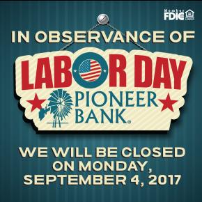 Thank you team PioneerBank!
