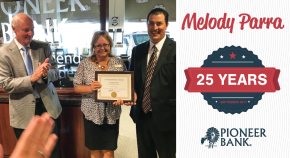 Melody Parra – serving with distinction for 25 years!