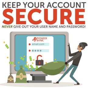 Keeping your account secure – beware of phishing scams.