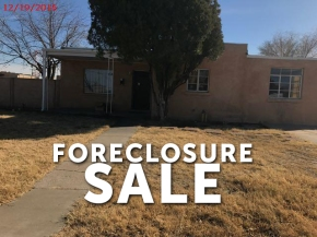 Foreclosure sale in Las Cruces, NM