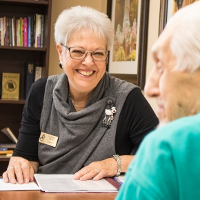 Pioneer Bank assists seniors with their financial needs.