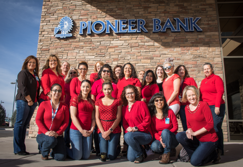Team Pioneer members from our corporate headquarters are proud to wear their red to show support for #WearRedDay