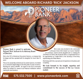 Pioneer Bank is proud to welcome Richard 'Rick' Jackson to its Advisory Board of Directors.