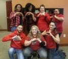 Turner Heart Health Awareness Day.jpg Top (Left to Right) Oshiana Thompson, Tamara Grado, Amber Fisher, Delia Carmona