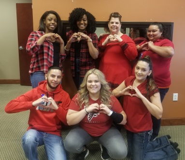 Turner Heart Health Awareness Day.jpg Top (Left to Right) Oshiana Thompson, Tamara Grado, Amber Fisher, Delia Carmona