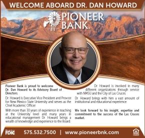 Dr. Dan Howard joins Pioneer Bank AdvisoryBoard