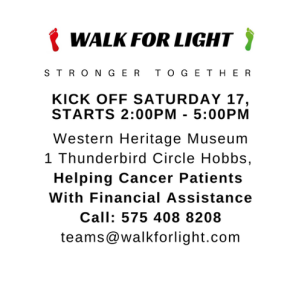 Join the Walk for Light in Hobbs March 17!