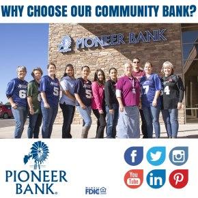 Why should you choose PioneerBank?