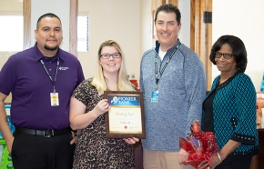 Employees recognized for promotions